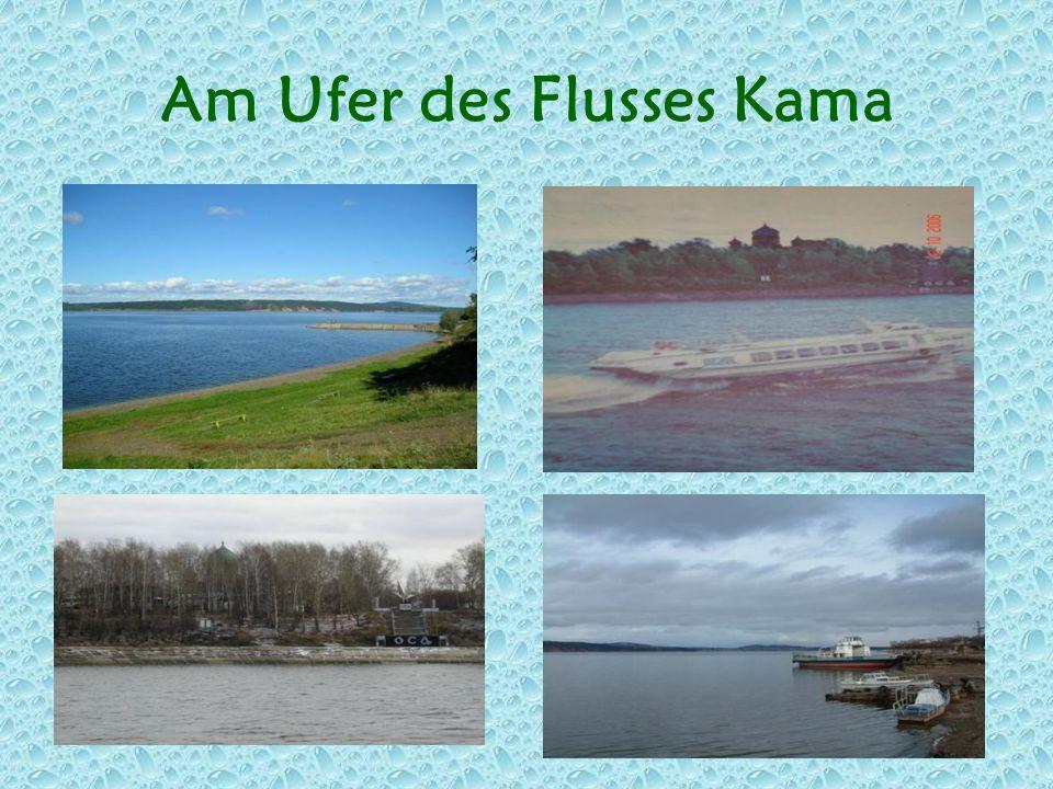 Am Ufer des Flusses Kama