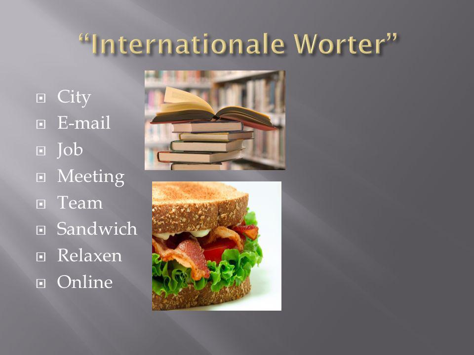 City E-mail Job Meeting Team Sandwich Relaxen Online