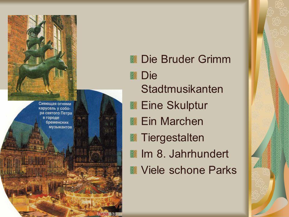 Die Bruder Grimm Die Stadtmusikanten Eine Skulptur Ein Marchen Tiergestalten Im 8.
