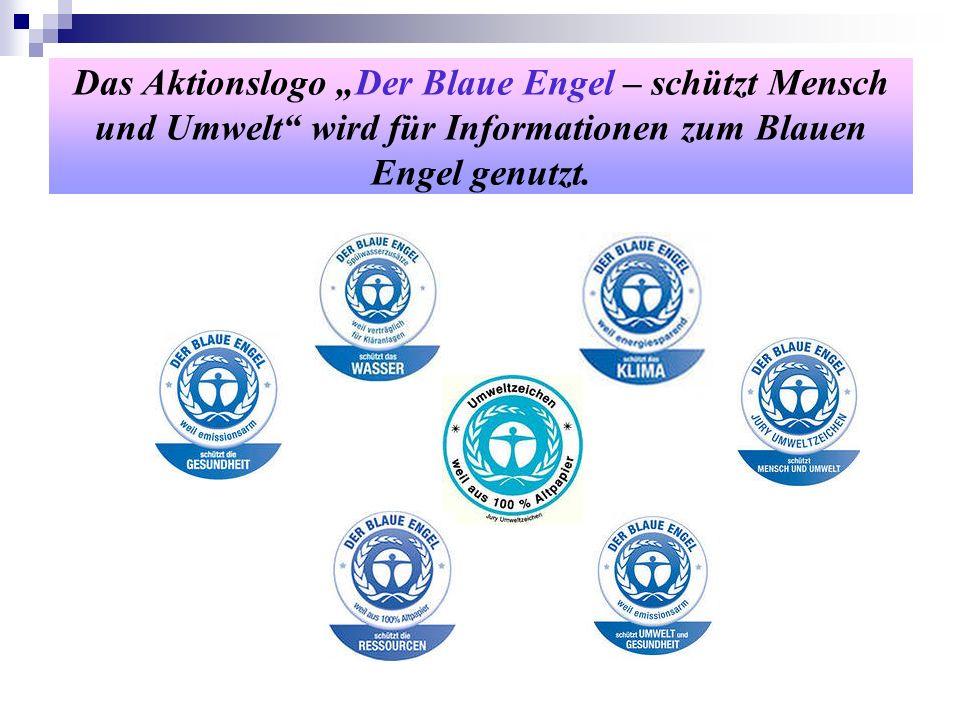 Das Aktionslogo Der Blaue Engel – schützt Mensch und Umwelt wird für Informationen zum Blauen Engel genutzt.