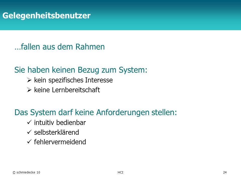 TFH Berlin Gelegenheitsbenutzer …fallen aus dem Rahmen Sie haben keinen Bezug zum System: kein spezifisches Interesse keine Lernbereitschaft Das Syste