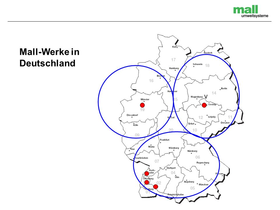 Produktionswerke Donaueschingen Coswig Ettlingen Haslach Nottuln