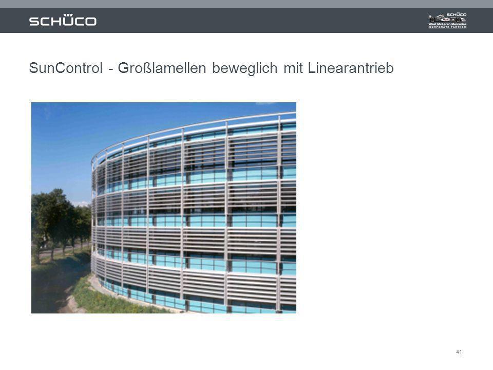 41 SunControl - Großlamellen beweglich mit Linearantrieb