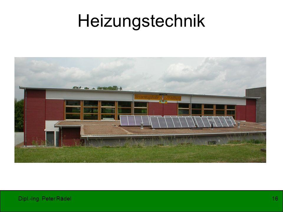 Dipl.-Ing. Peter Rädel16 Heizungstechnik