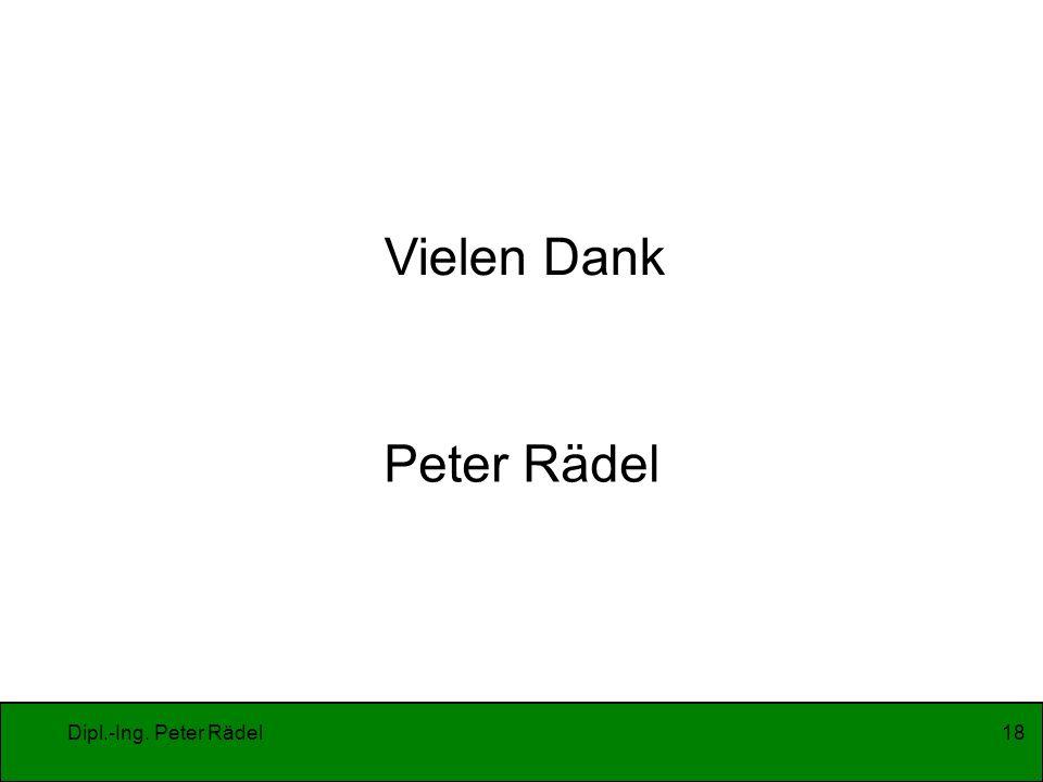 Dipl.-Ing. Peter Rädel18 Vielen Dank Peter Rädel