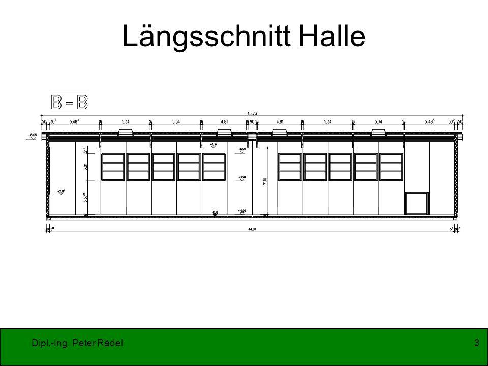 Dipl.-Ing. Peter Rädel3 Längsschnitt Halle