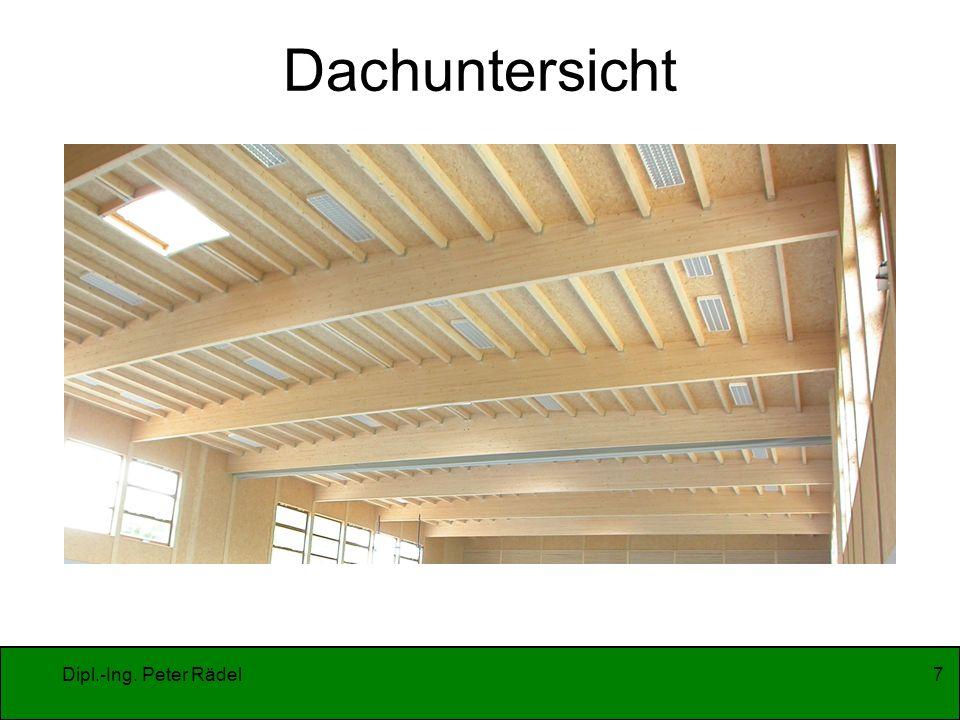 Dipl.-Ing. Peter Rädel7 Dachuntersicht