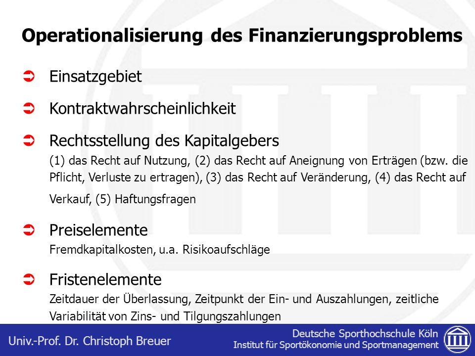 Deutsche Sporthochschule Köln Institut für Sportökonomie und Sportmanagement Univ.-Prof.