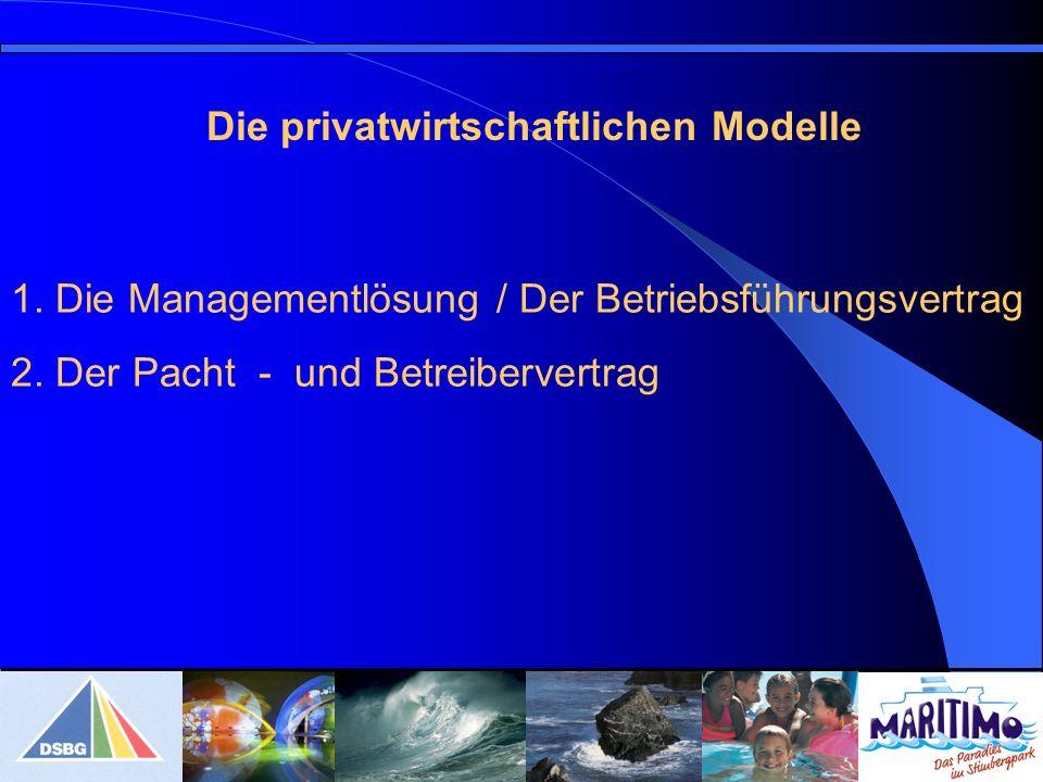 1.Die Managementlösung / Der Betriebsführungsvertrag 2.