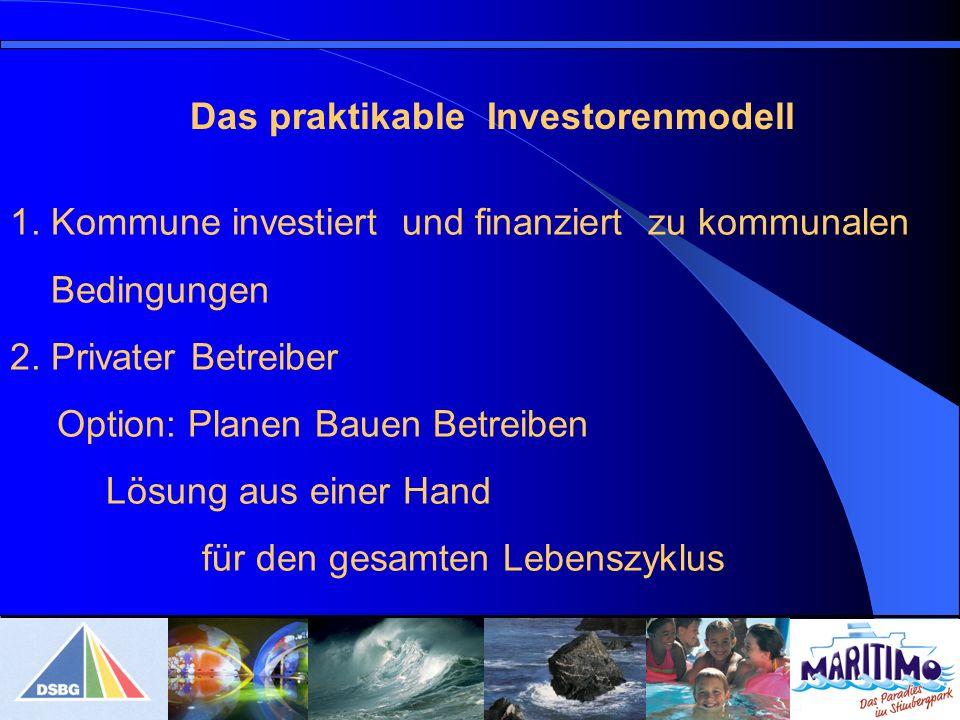 1.Kommune investiert und finanziert zu kommunalen Bedingungen 2.