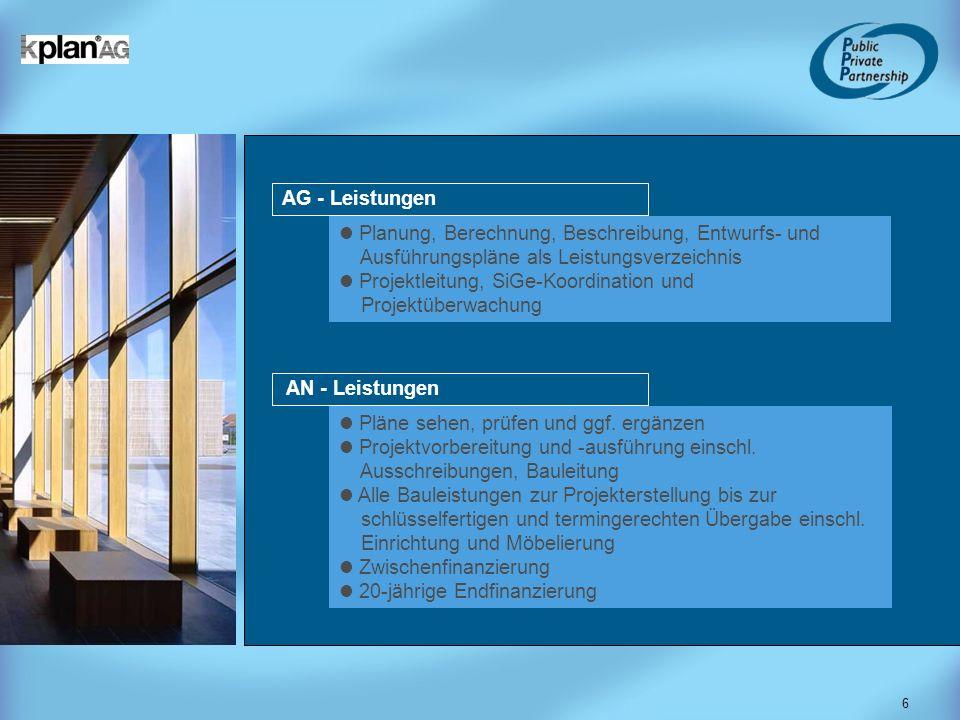 6 Planung, Berechnung, Beschreibung, Entwurfs- und Ausführungspläne als Leistungsverzeichnis Projektleitung, SiGe-Koordination und Projektüberwachung