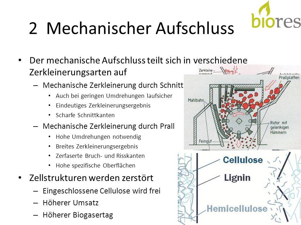 2 Mechanischer Aufschluss Der mechanische Aufschluss teilt sich in verschiedene Zerkleinerungsarten auf – Mechanische Zerkleinerung durch Schnitt Auch