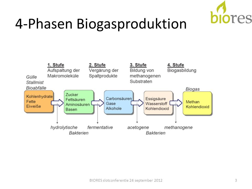 4-Phasen Biogasproduktion 3BIORES slotconferentie 24 september 2012
