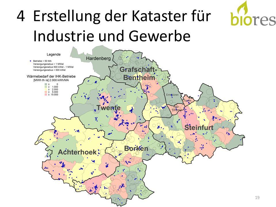 4 Erstellung der Kataster für Industrie und Gewerbe 19