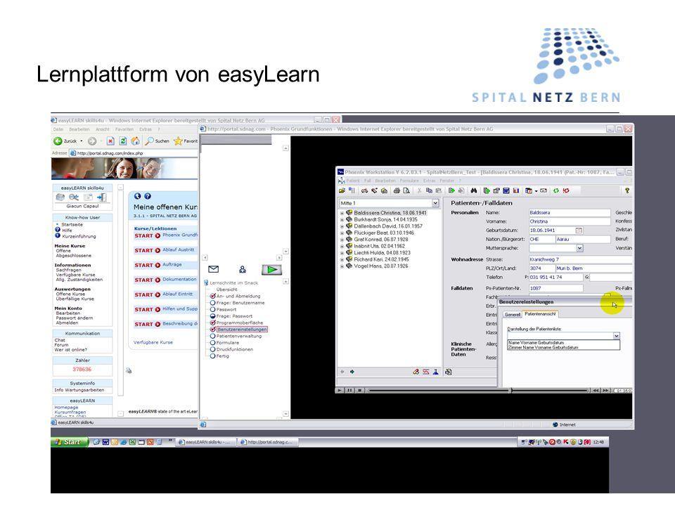 Lernplattform von easyLearn