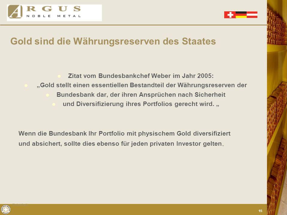 Die Zentralbanken der wirtschaftlich bedeutsamen Länder der Welt lagern tonnenweise Gold als Währungsreserven. Die Argumente, die gegen das gelbe Edel