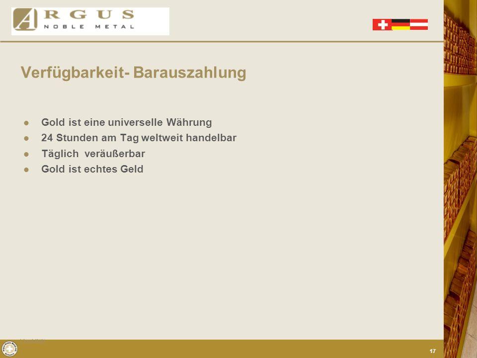Pressestimmen zu Gold als Sicherheit Sicherheit 16