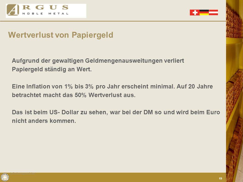Konstante Kaufkraft Kein Geldwertverlust Keine Regierung der Welt kann Gold entwerten Gold ist Inflationsgeschützt Inflationsgeschützt 18