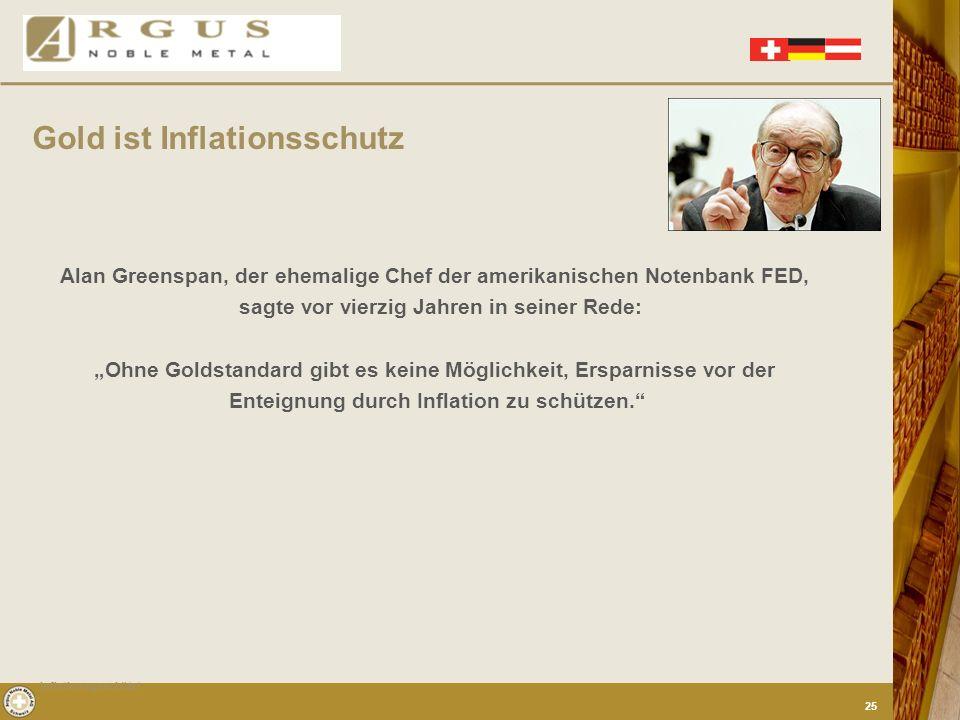 Einzigartig an Gold ist, dass keine Regierung und keine Notenbank der Welt Gold herstellen und durch inflationären Gebrauch entwerten kann. Das unters