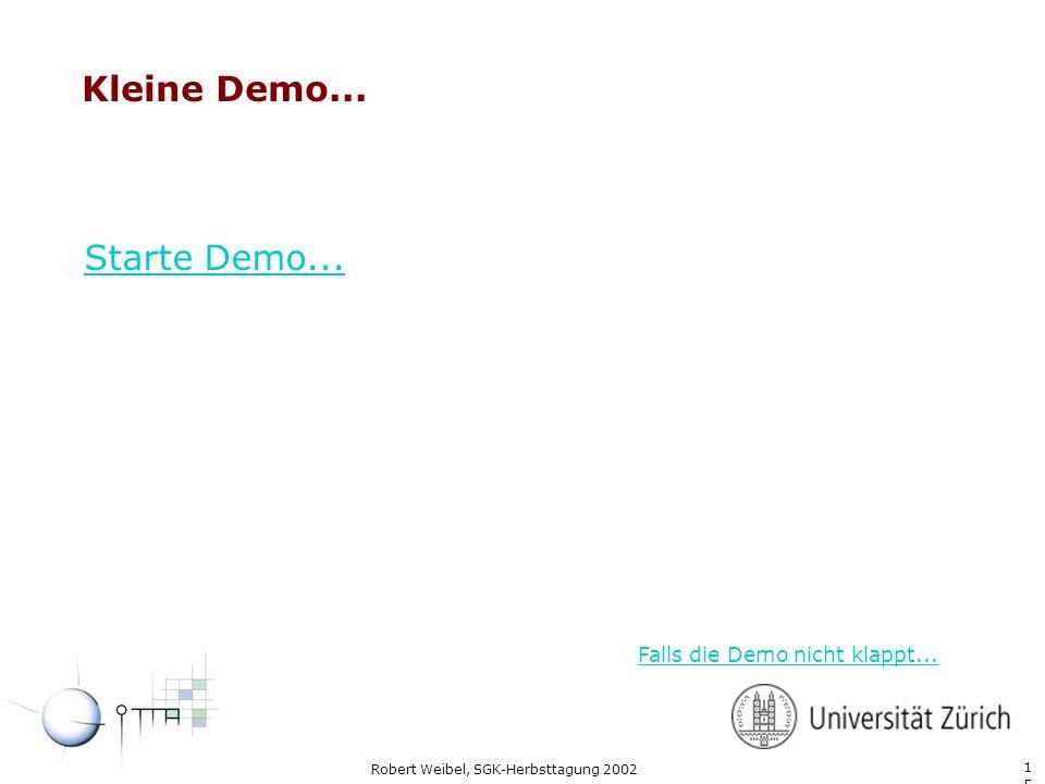 1515 Robert Weibel, SGK-Herbsttagung 2002 Kleine Demo... Starte Demo... Falls die Demo nicht klappt...