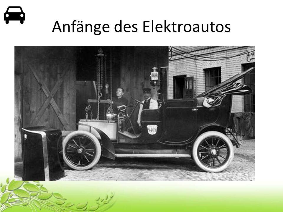 Anfänge des Elektroautos 1905 Elektrische Viktoria – 50 Fahrzeuge – 30 km/h – 80 km Laufleistung