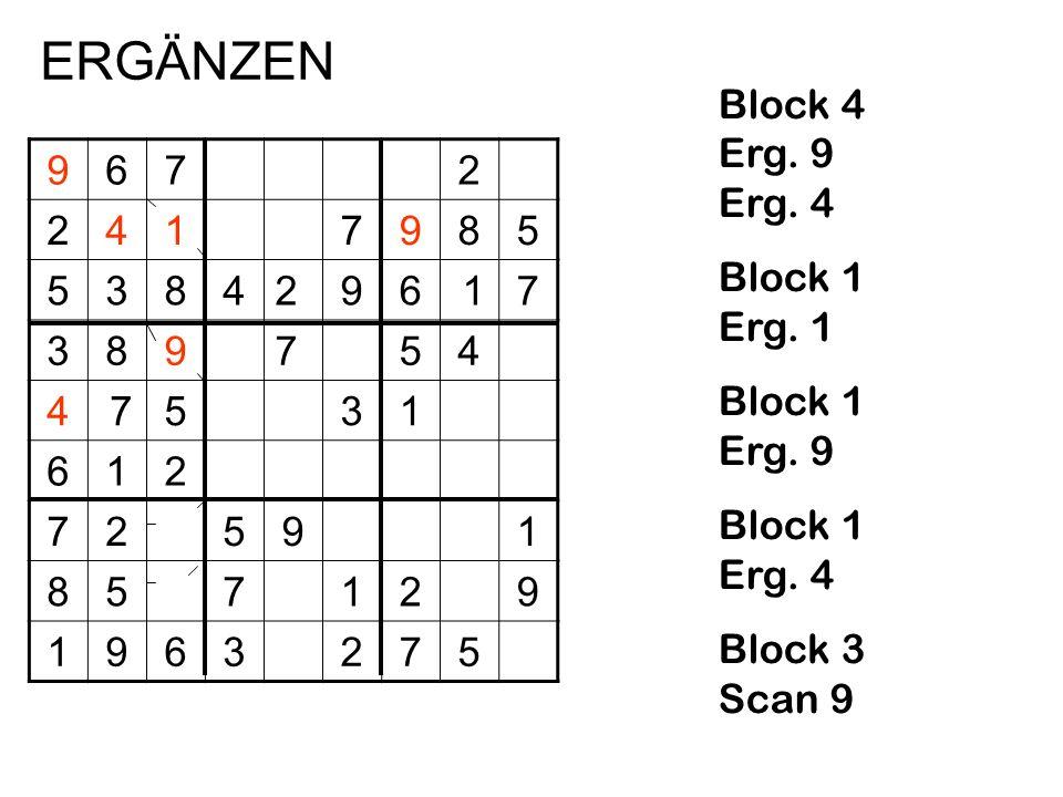 9672 2417985 5384296 17 389754 4 7531 612 72591 857129 1963275 Block 4 Erg. 9 Erg. 4 Block 1 Erg. 1 Block 1 Erg. 9 Block 1 Erg. 4 Block 3 Scan 9 ERGÄN