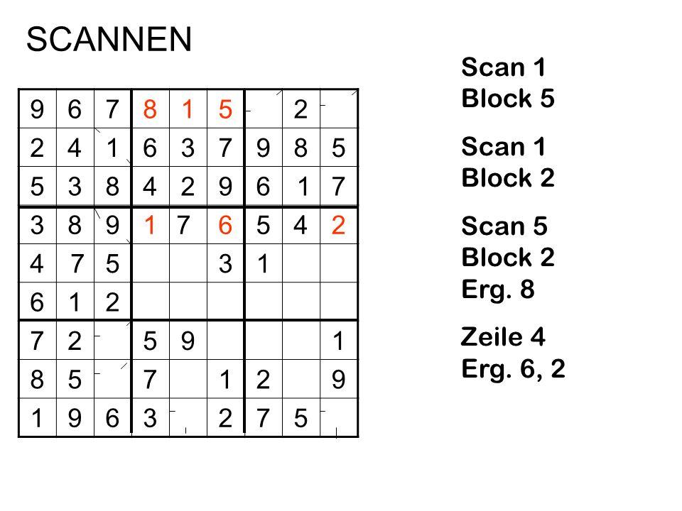 9678152 241637985 5384296 17 389176542 4 7531 612 72591 857129 1963275 Scan 1 Block 5 Scan 1 Block 2 Scan 5 Block 2 Erg. 8 Zeile 4 Erg. 6, 2 SCANNEN