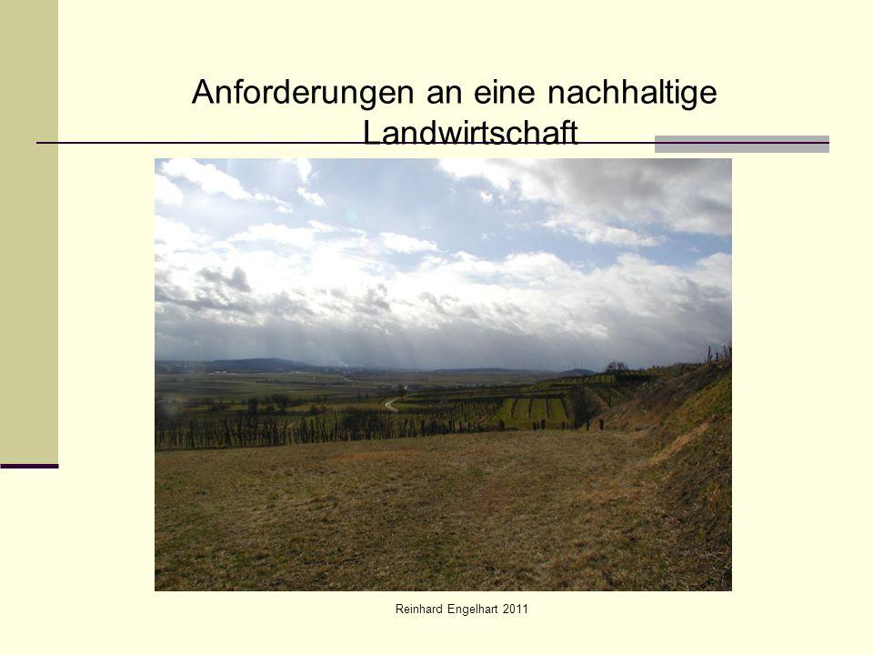 Reinhard Engelhart 2011 Anforderungen an eine nachhaltige Landwirtschaft