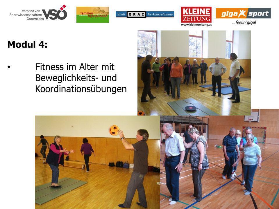 Modul 4: Fitness im Alter mit Beweglichkeits- und Koordinationsübungen