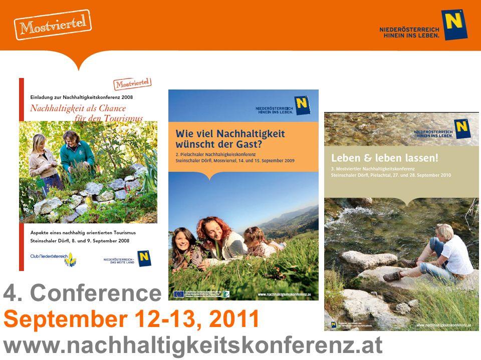 4. Conference September 12-13, 2011 www.nachhaltigkeitskonferenz.at
