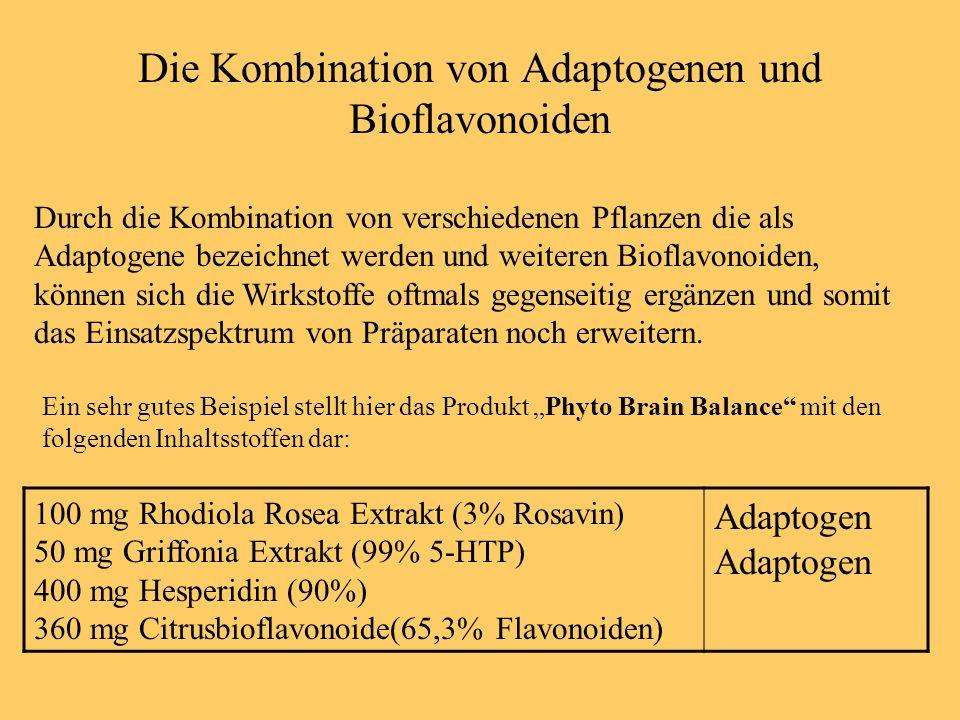Die Kombination von Adaptogenen und Bioflavonoiden Durch die Kombination von verschiedenen Pflanzen die als Adaptogene bezeichnet werden und weiteren