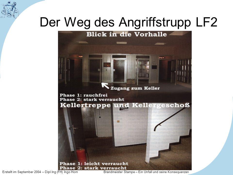 Erstellt im September 2004 – Dipl.Ing (FH) Ingo Horn Brandmeister Stampe – Ein Unfall und seine Konsequenzen Der Weg des Angriffstrupp LF2