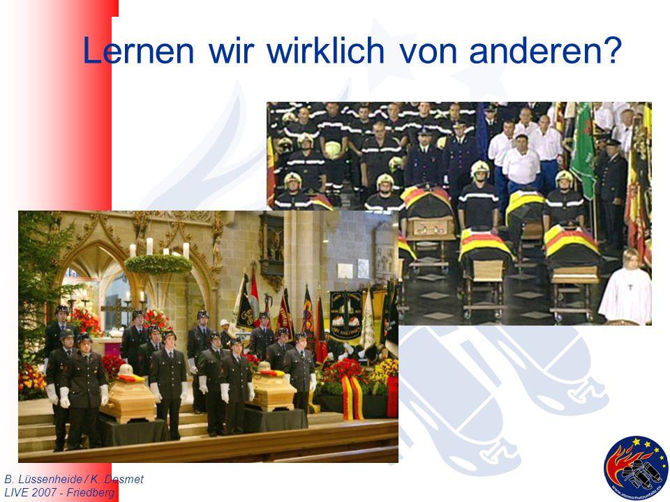 B. Lüssenheide / K. Desmet LIVE 2007 - Friedberg Lernen wir wirklich von anderen