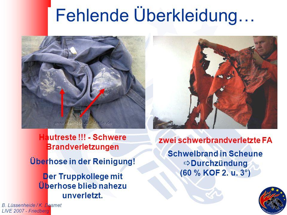 B. Lüssenheide / K. Desmet LIVE 2007 - Friedberg Fehlende Überkleidung… Hautreste !!.