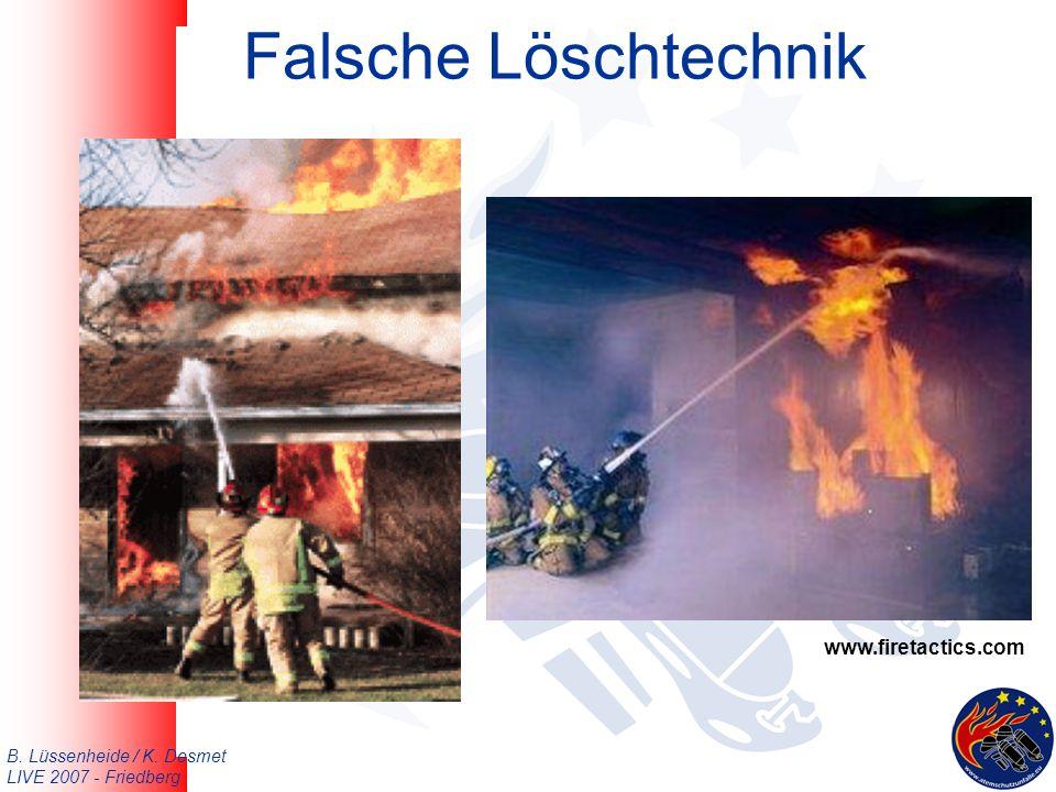 B. Lüssenheide / K. Desmet LIVE 2007 - Friedberg Falsche Löschtechnik www.firetactics.com