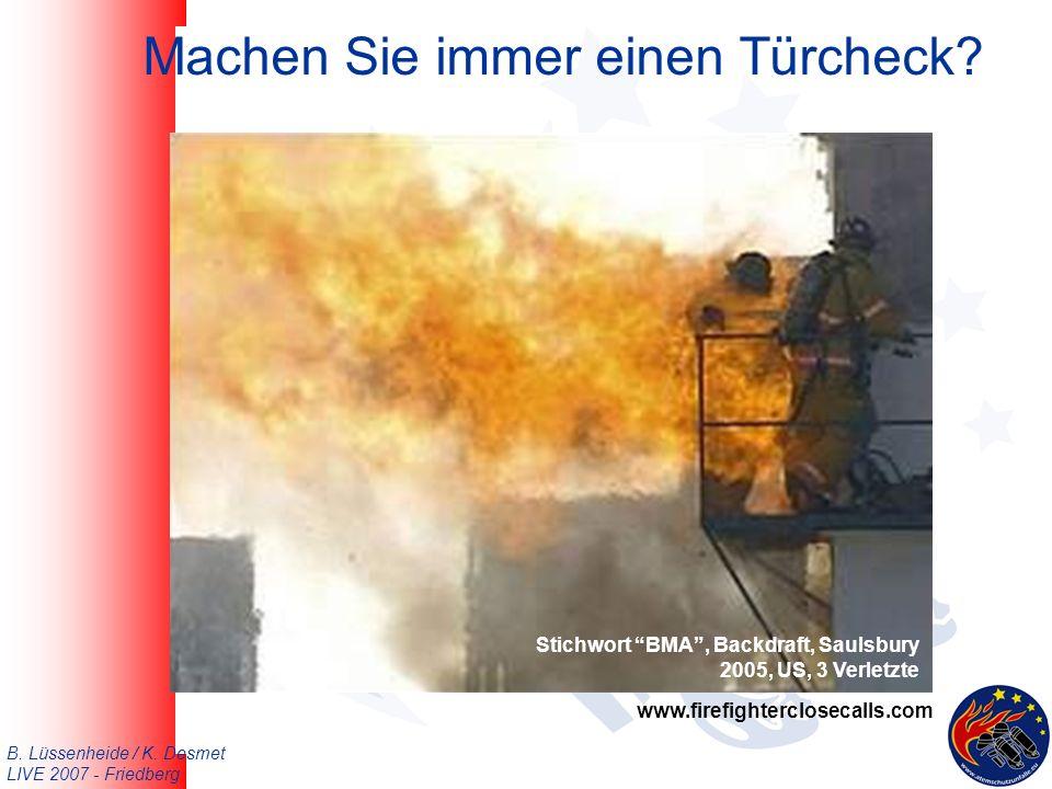 B. Lüssenheide / K. Desmet LIVE 2007 - Friedberg Machen Sie immer einen Türcheck.