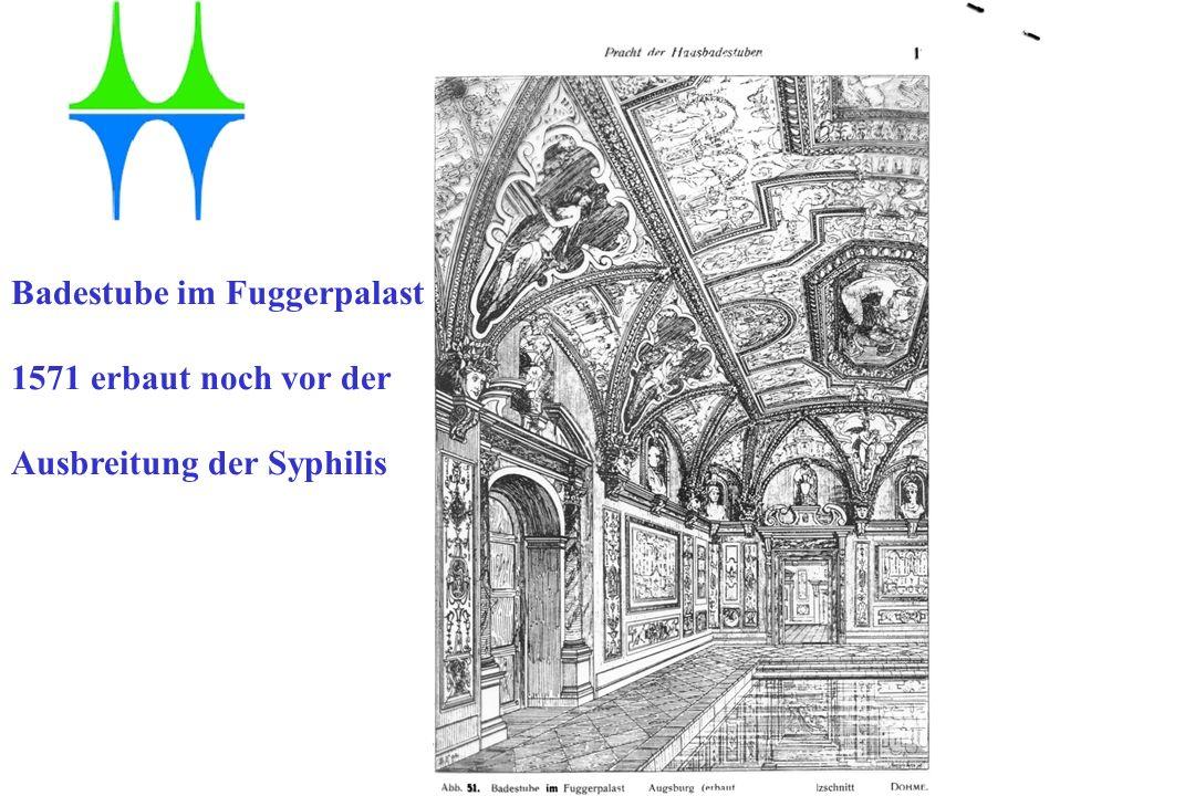 Gesundheitsamt der Stadt Mülheim an der Ruhr Badestube im Fuggerpalast 1571 erbaut noch vor der Ausbreitung der Syphilis