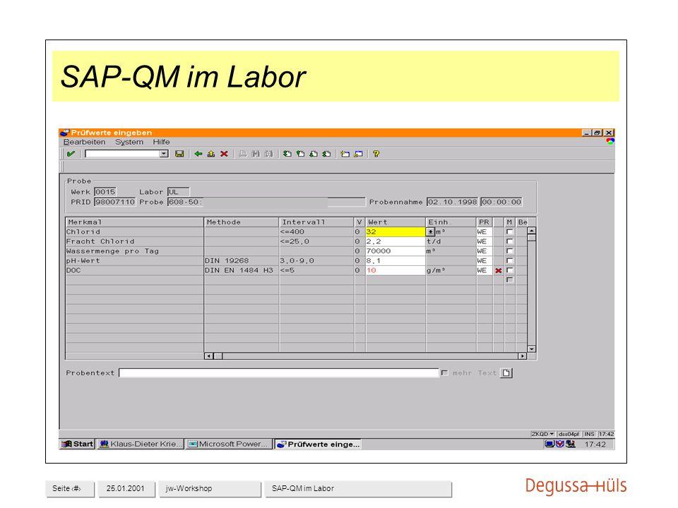Seite 1025.01.2001jw-WorkshopSAP-QM im Labor