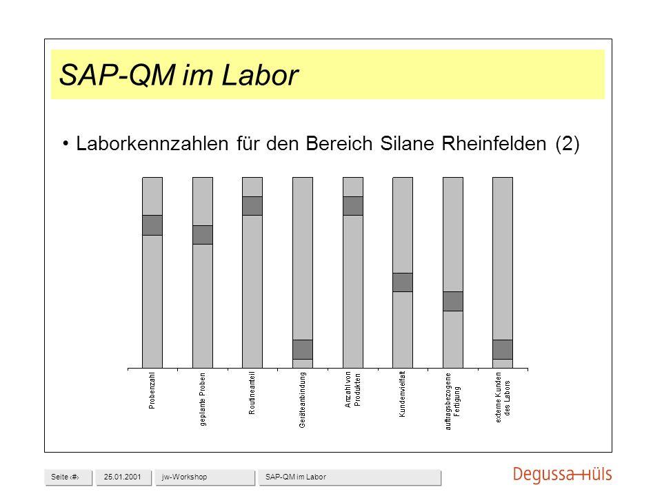 Seite 225.01.2001jw-WorkshopSAP-QM im Labor Laborkennzahlen für den Bereich Silane Rheinfelden (2)