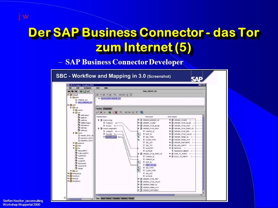 Der SAP Business Connector - das Tor zum Internet (5) –SAP Business Connector Developer Steffen Nestler, jwconsulting Workshop Wuppertal 2000