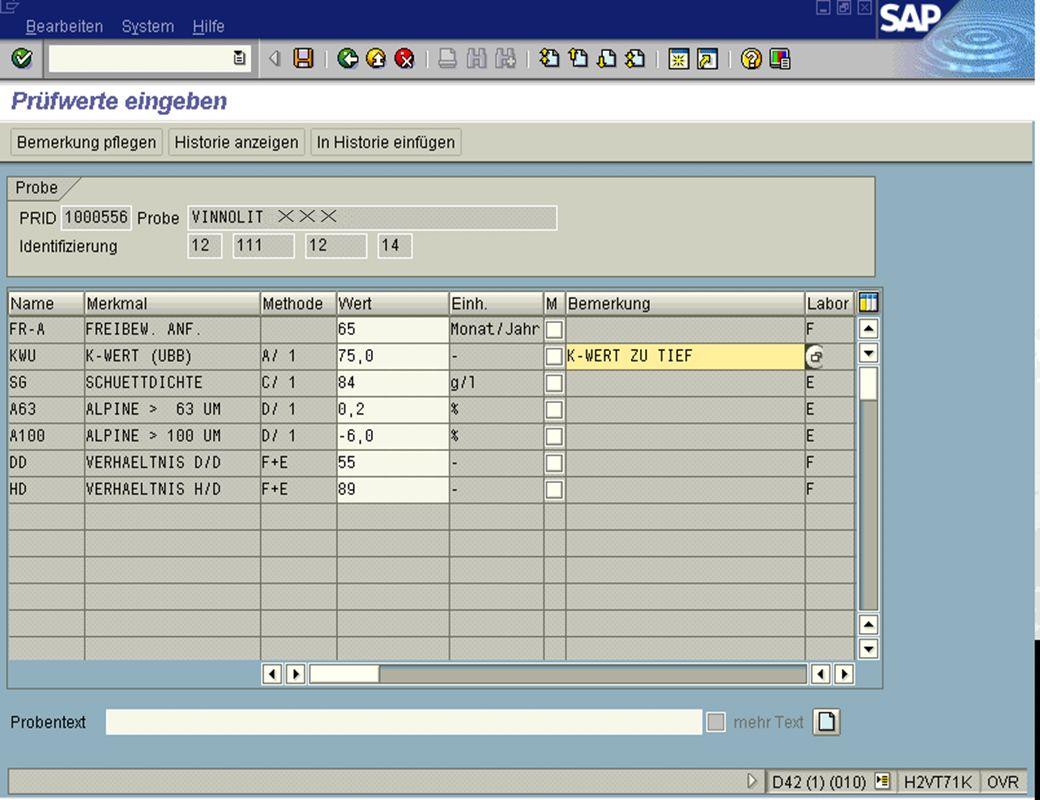 Seite 1615.02.01Dr. Karin KnippingIntegriertes SAP R/3 LIMS jw