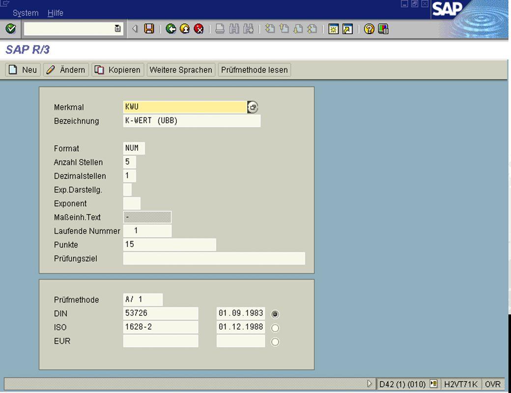Seite 2115.02.01Dr. Karin KnippingIntegriertes SAP R/3 LIMS jw