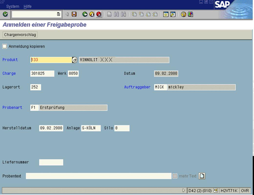 Seite 615.02.01Dr. Karin KnippingIntegriertes SAP R/3 LIMS jw