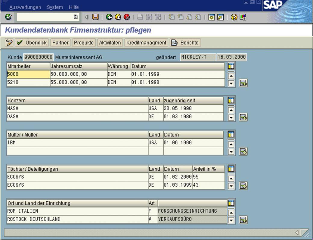 Seite 11DatumThomas MickleyKundeninformationsdatenbank jw Firmenstruktur