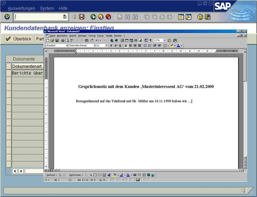 Seite 18DatumThomas MickleyKundeninformationsdatenbank jw Dokumentenverwaltung Detailansicht