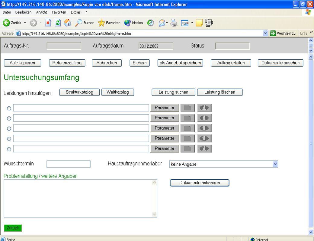 Dr. Jochen Winkler jw http://www.jwconsulting.deSeite 1927.03.2003 Erfahrungen im eLab-Projekt – Anzeige im Web