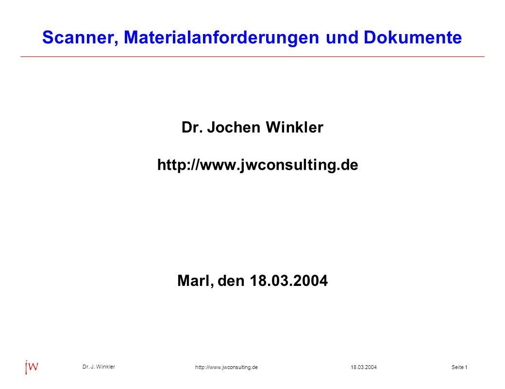 Seite 1218.03.2004 Dr.J.
