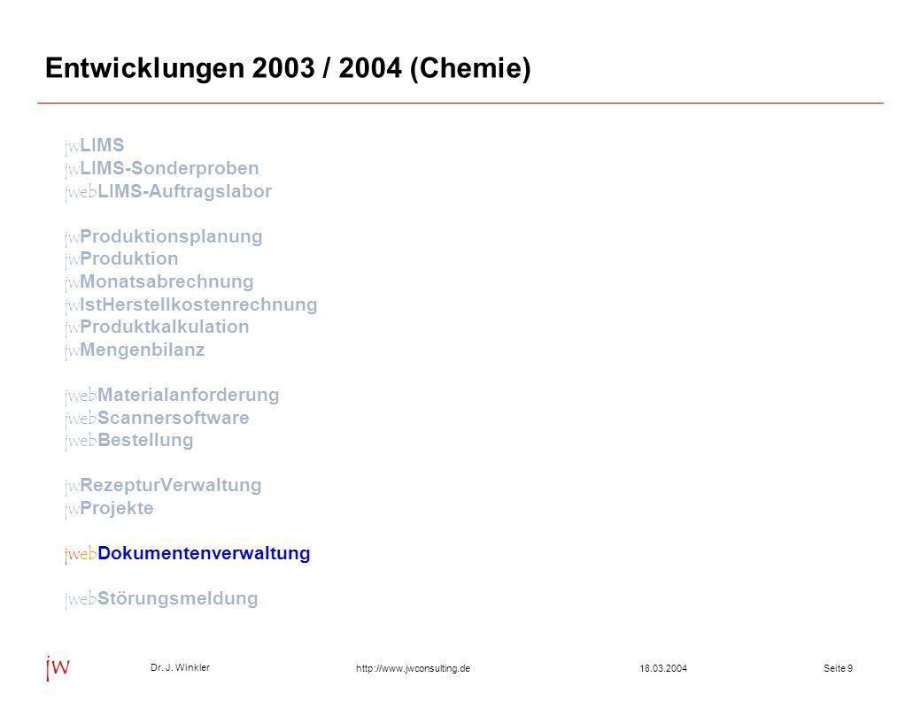 Seite 1018.03.2004 Dr.J.