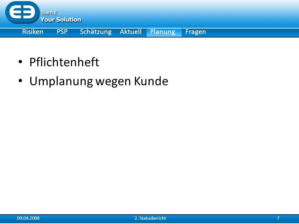 RisikenSchätzungAktuellPlanungPSPFragen 09.04.200882.