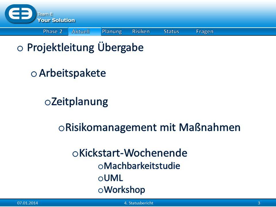07.01.20144. Statusbericht4